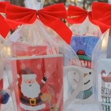 ของขวัญคริสต์มาส ปีใหม่ แก้วกาแฟใส่ขนม