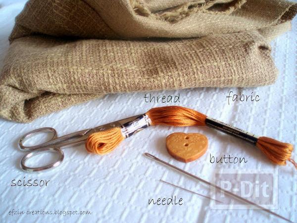 รูป 2 สายรัดของขวัญ ทำจากผ้ากระสอบ