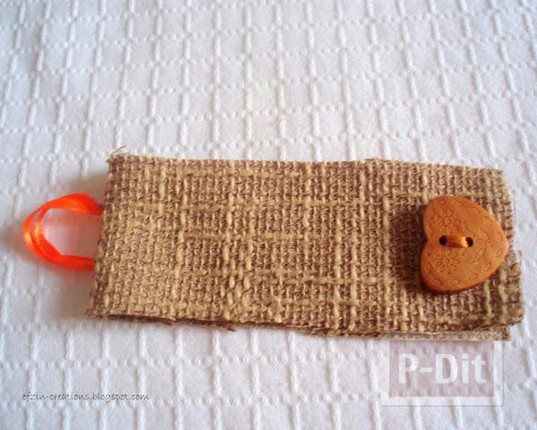 รูป 3 สายรัดของขวัญ ทำจากผ้ากระสอบ