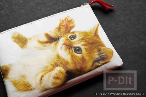 รูป 3 กระเป๋าน่ารัก ลายแมว เย็บเอง