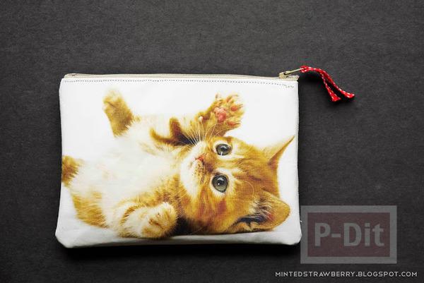 รูป 4 กระเป๋าน่ารัก ลายแมว เย็บเอง
