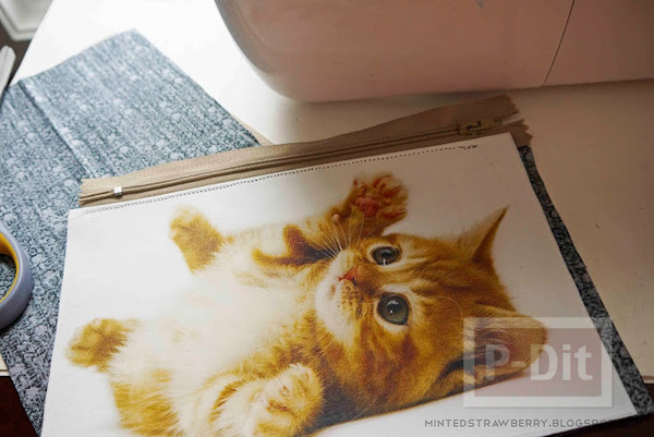 รูป 5 กระเป๋าน่ารัก ลายแมว เย็บเอง