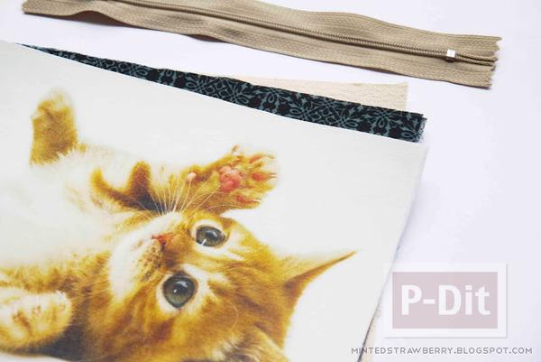 รูป 6 กระเป๋าน่ารัก ลายแมว เย็บเอง