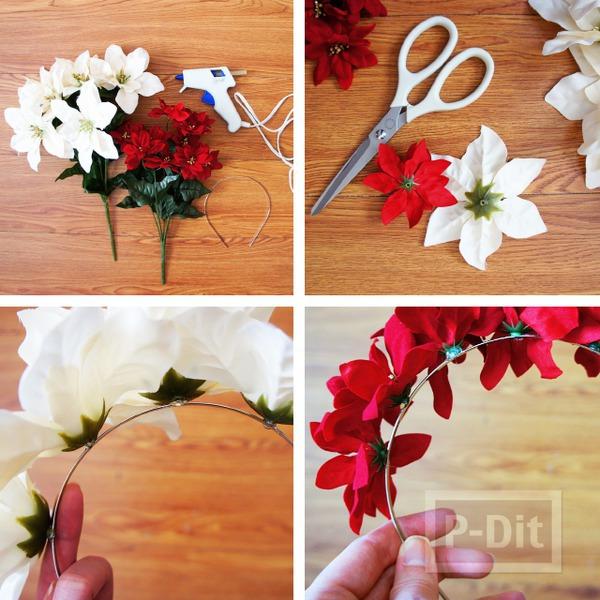 รูป 2 ทำที่คาดผม ประดับดอกไม้ประดิษฐ์