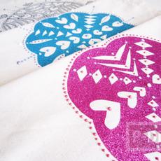 ตกแต่งถุงผ้า ลายสวย จากกระดาษ