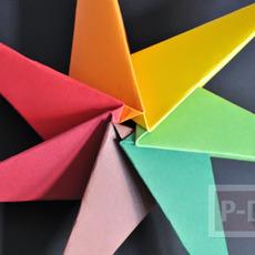 สอนพับดาวกระดาษ สีสด