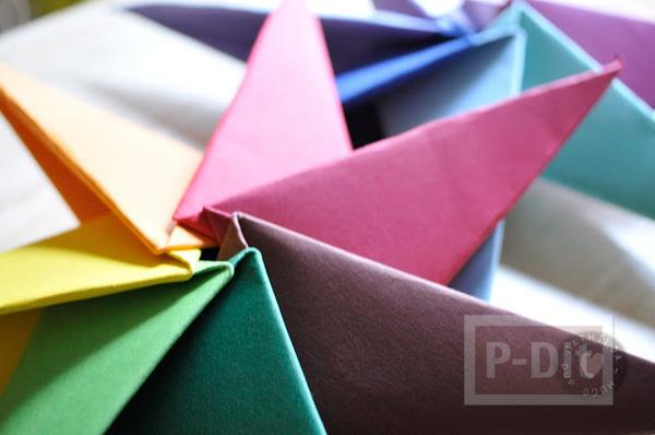 รูป 6 สอนพับดาวกระดาษ สีสด