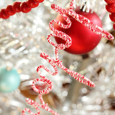 ประดับกล่องของขวัญ ต้นคริสต์มาส ด้วยลวดดัดประดับเชือก
