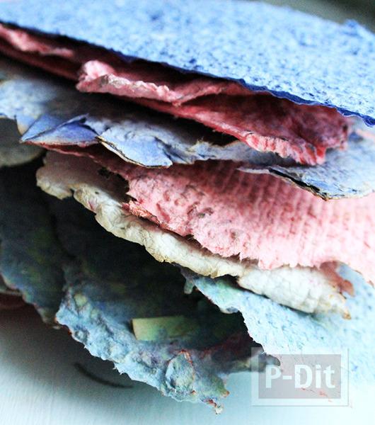 รูป 2 สอนทำกระดาษสีสวย จากกระดาษแผ่นเก่าๆ