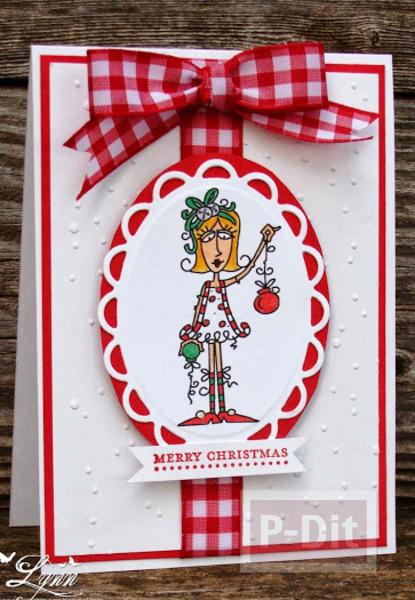 รูป 3 การ์ดคริสต์มาสสวยๆ แบบง่ายๆ หลากหลายไอเดีย