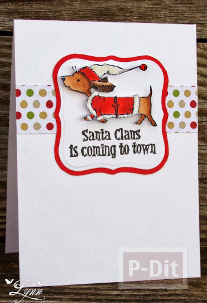 รูป 4 การ์ดคริสต์มาสสวยๆ แบบง่ายๆ หลากหลายไอเดีย