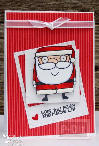 รูป 5 การ์ดคริสต์มาสสวยๆ แบบง่ายๆ หลากหลายไอเดีย