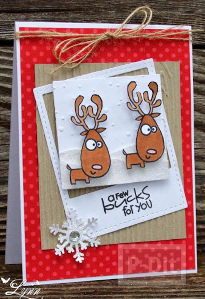 รูป 7 การ์ดคริสต์มาสสวยๆ แบบง่ายๆ หลากหลายไอเดีย