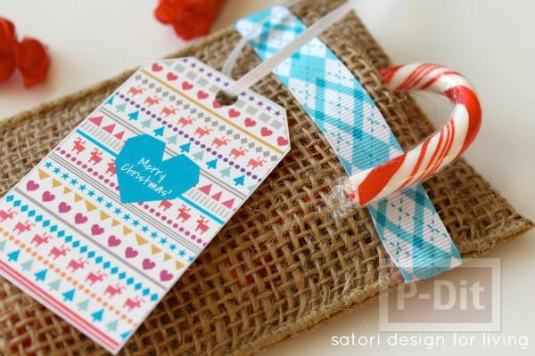 ถุงของขวัญ ใบเล็กๆ ทำจากริบบิ้น