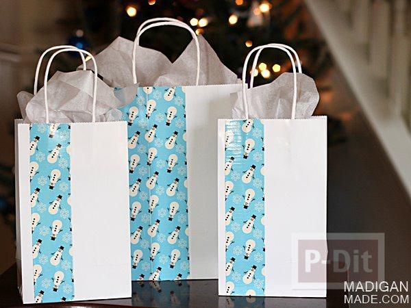 สอนตกแต่งถุงกระดาษ จากสก็อตเทปสีสวย