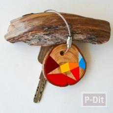 ไอเดียทำพวงกุญแจ จากเศษไม้