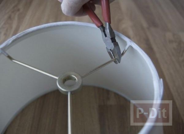 รูป 3 ตกแต่งโคมไฟตั้งพื้น จากขวดพลาสติกใส