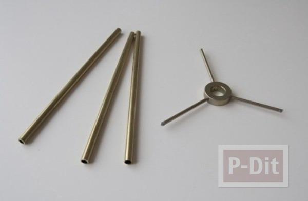 รูป 5 ตกแต่งโคมไฟตั้งพื้น จากขวดพลาสติกใส