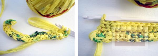 รูป 6 กระเป๋าถือ ถักจากถุงพลาสติก