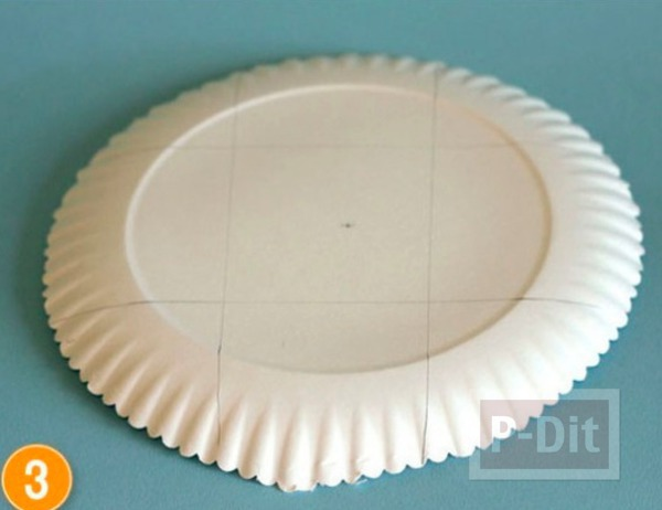 รูป 5 ตะกร้าใส่ผลไม้ ทำจากจานกระดาษ