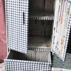 ประดิษฐ์ตู้เก็บของ จากกระดาษหนังสือพิมพ์
