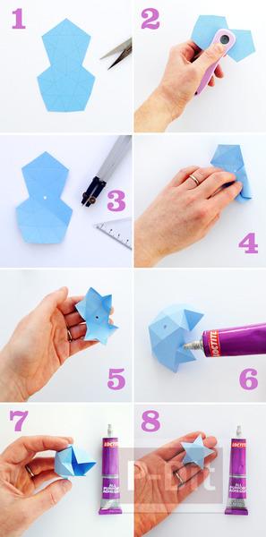 รูป 6 พับดาวกระดาษ แบบใหม่ ง่าย สวย