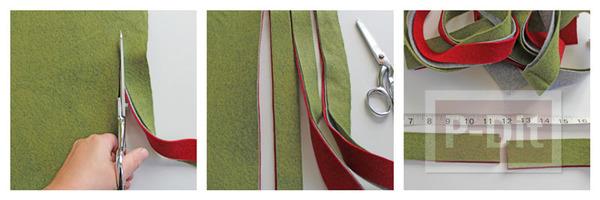 รูป 3 โมบายประดับ ทำจากผ้า เย็บแบบง่ายๆ