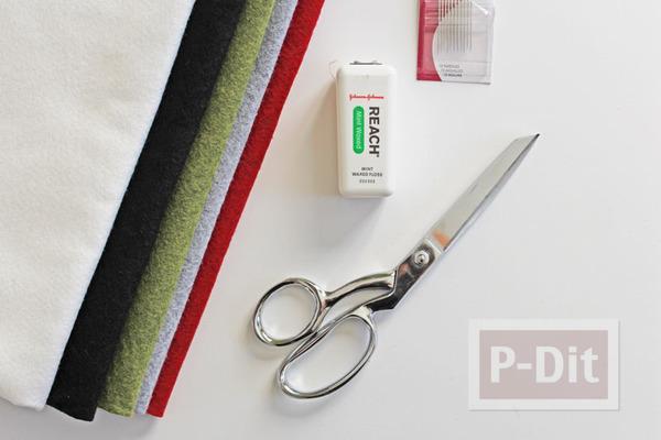 รูป 4 โมบายประดับ ทำจากผ้า เย็บแบบง่ายๆ