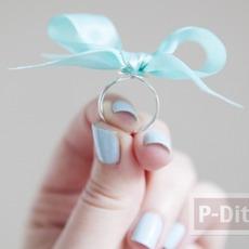 แหวนสวยๆ ทำจากโบว์ เล็กๆ