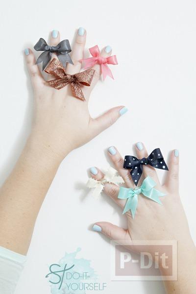 รูป 2 แหวนสวยๆ ทำจากโบว์ เล็กๆ