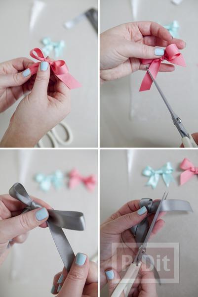 รูป 5 แหวนสวยๆ ทำจากโบว์ เล็กๆ