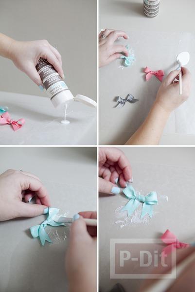 รูป 6 แหวนสวยๆ ทำจากโบว์ เล็กๆ