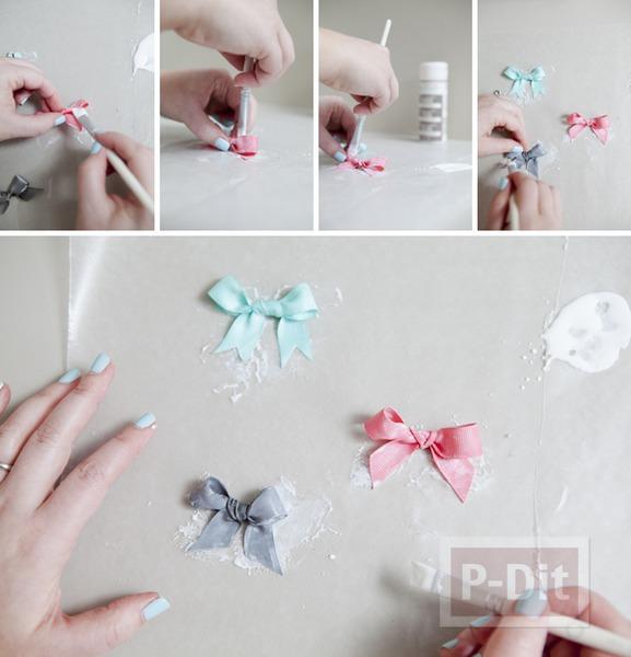 รูป 7 แหวนสวยๆ ทำจากโบว์ เล็กๆ