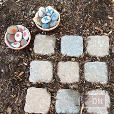 ทำของเล่น ทิค แทค โท จากก้อนหิน