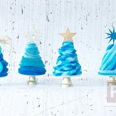 ต้นคริสต์มาส ลวดกำมะหยี่ สีฟ้าใส