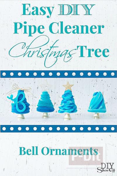 รูป 5 ต้นคริสต์มาส ลวดกำมะหยี่ สีฟ้าใส