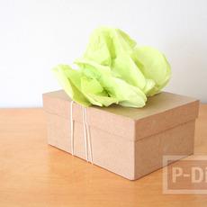 สอนทำดอกไม้ ประดับกล่องของขวัญ