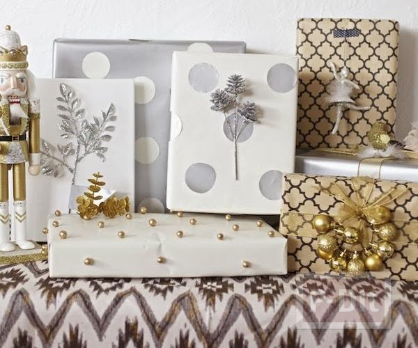 รูป 1 ไอเดียห่อกล่องของขวัญ ลายสวย ตกแต่งง่ายๆ
