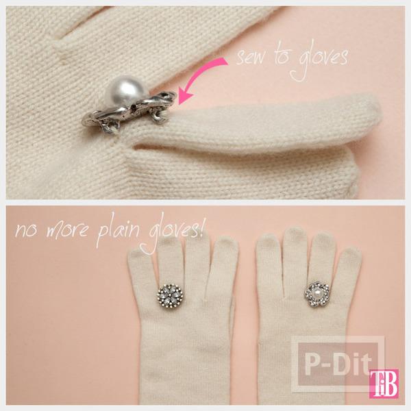 รูป 7 ถุงมือประดับแหวน ตกแต่งลูกปัดเล็กๆ