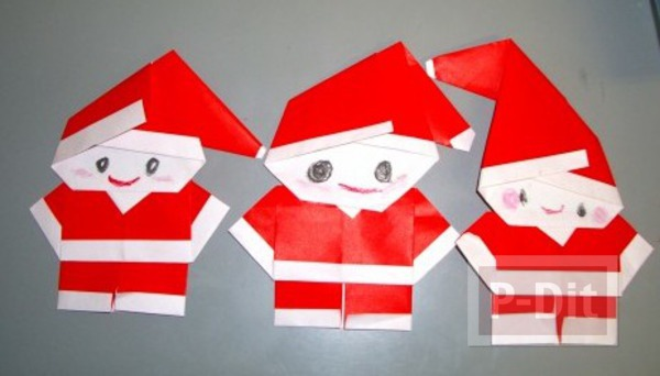 พับกระดาษ ซานตาครอส ตัวเล็กๆ