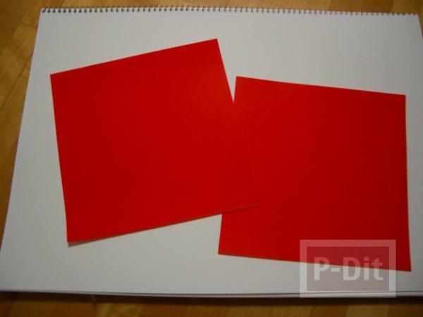 รูป 2 พับกระดาษ ซานตาครอส ตัวเล็กๆ
