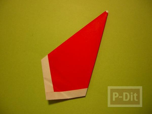 รูป 7 พับกระดาษ ซานตาครอส ตัวเล็กๆ