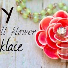 ดอกไม้เปลือกหอย ตกแต่งสรอยคอ