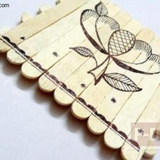 ภาพวาดสวยๆ ประดิษฐ์จากไม้ไอติม