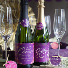 ขวดแชมเปญ ขวดไวน์ ฉลองปีใหม่ 2557(2014)