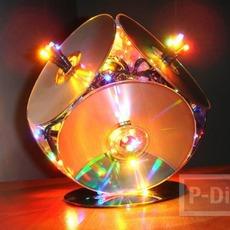 ทำโคมไฟจากแผ่น CDs