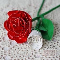 ดอกกุหลาบ ทำจากสก็อตเทป