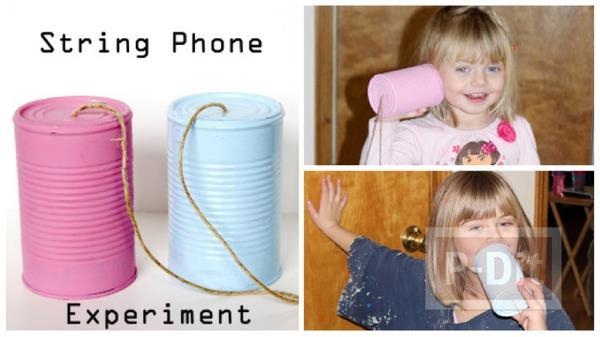 รูป 1 โทรศัพท์ของเล่น ทำจากกระป๋อง