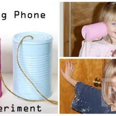 โทรศัพท์ของเล่น ทำจากกระป๋อง