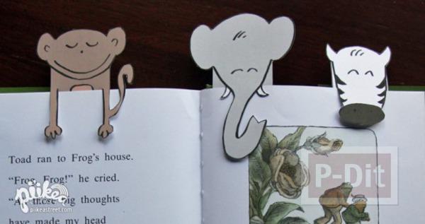 รูป 1 ที่คั่นหนังสือ ลายสัตว์ น่ารักๆ